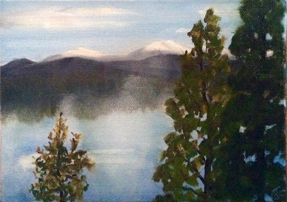 """""""Rising Fog"""" original fine art by Bobbie Cook"""