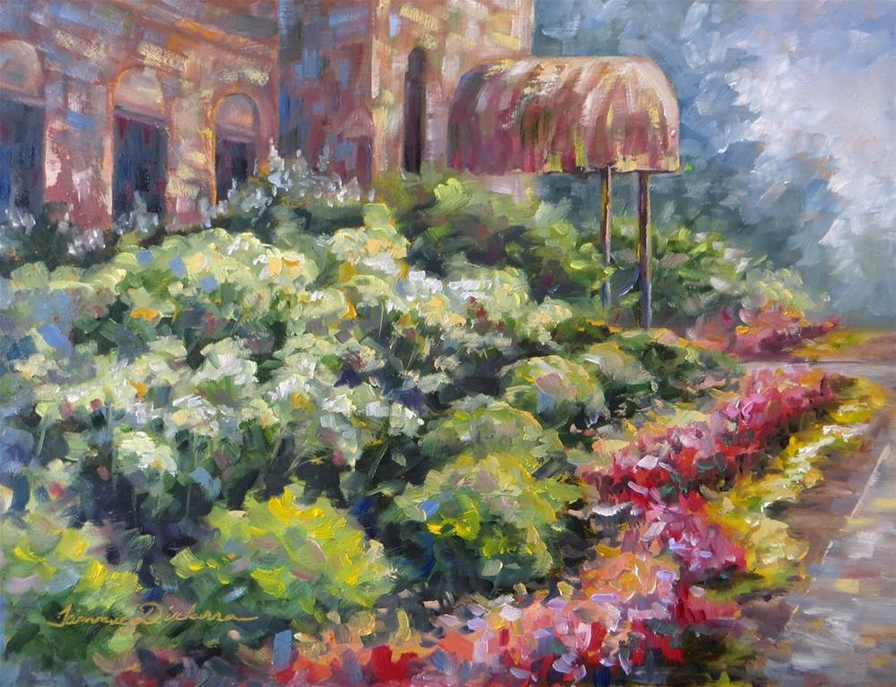 """Garden Glory at the Clubhouse"" original fine art by Tammie Dickerson"