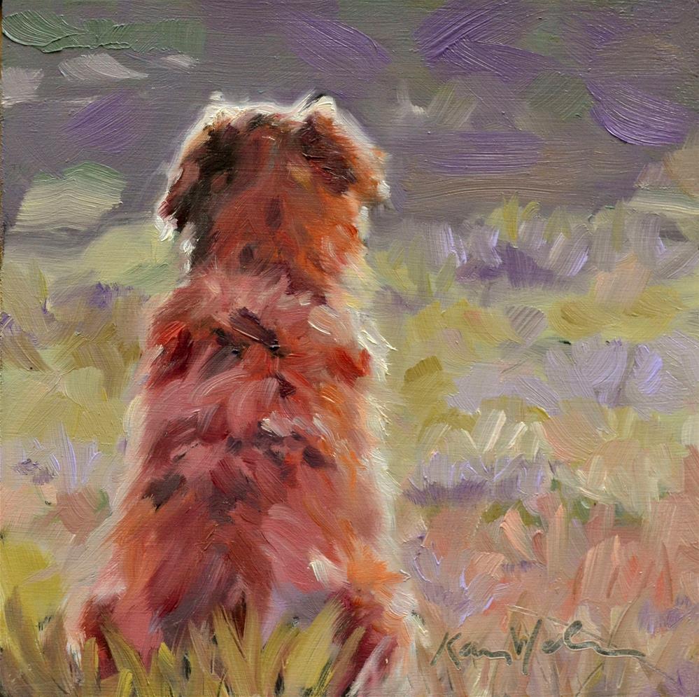 """""""Waiting"""" original fine art by Karen Weber"""