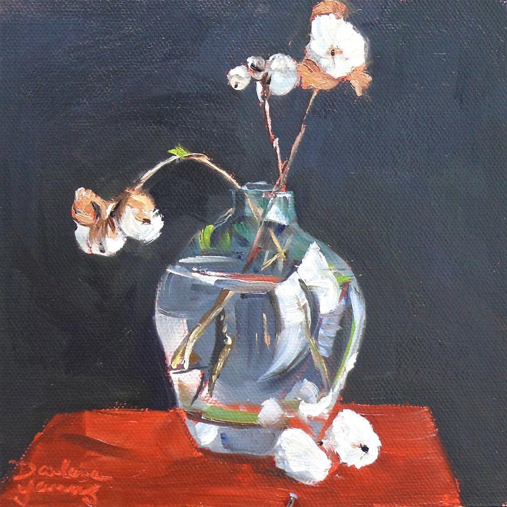 """605 Snow Berries"" original fine art by Darlene Young"