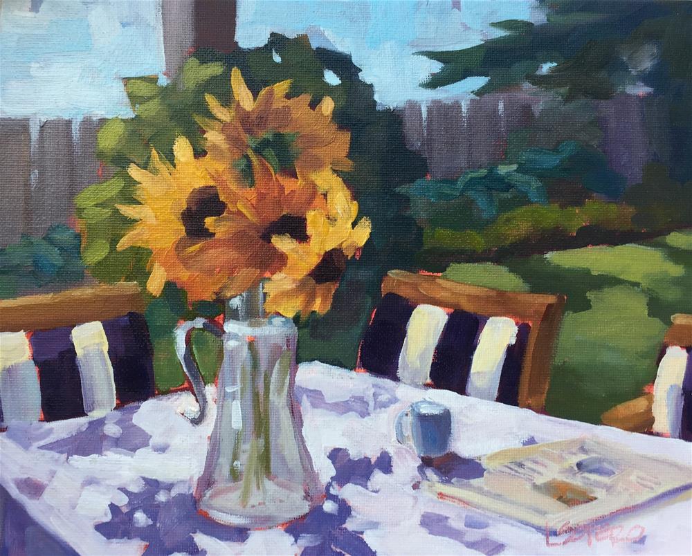 """CJ's Sunflowers"" original fine art by Lisa Sotero"
