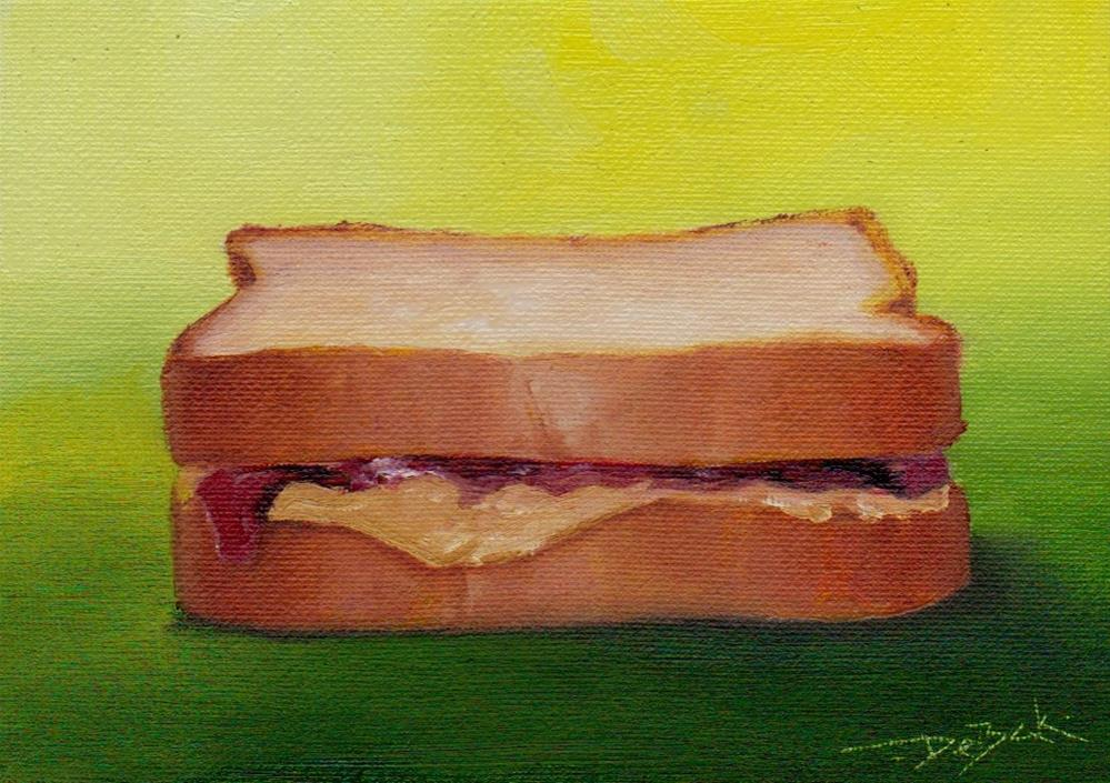 """PB&J sandwich"" original fine art by Mark DeBak"