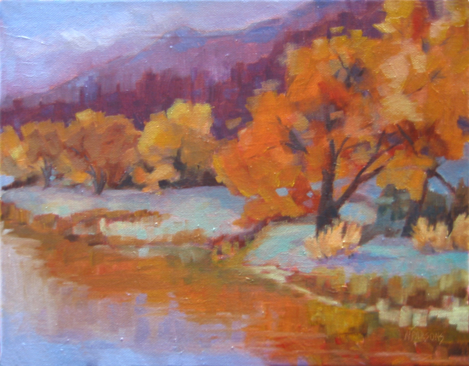 """Rio Grande Harvest"" original fine art by Nancy Parsons"
