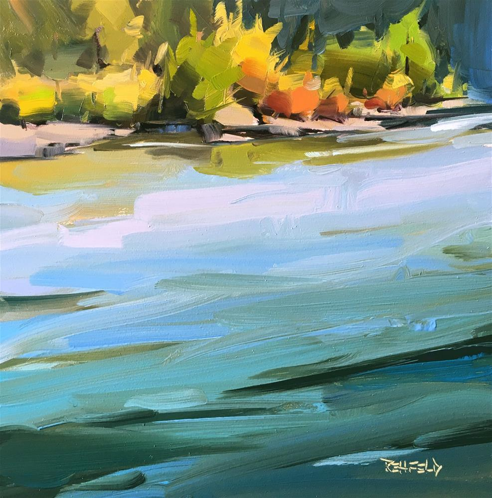 """Turquoise Waters"" original fine art by Cathleen Rehfeld"