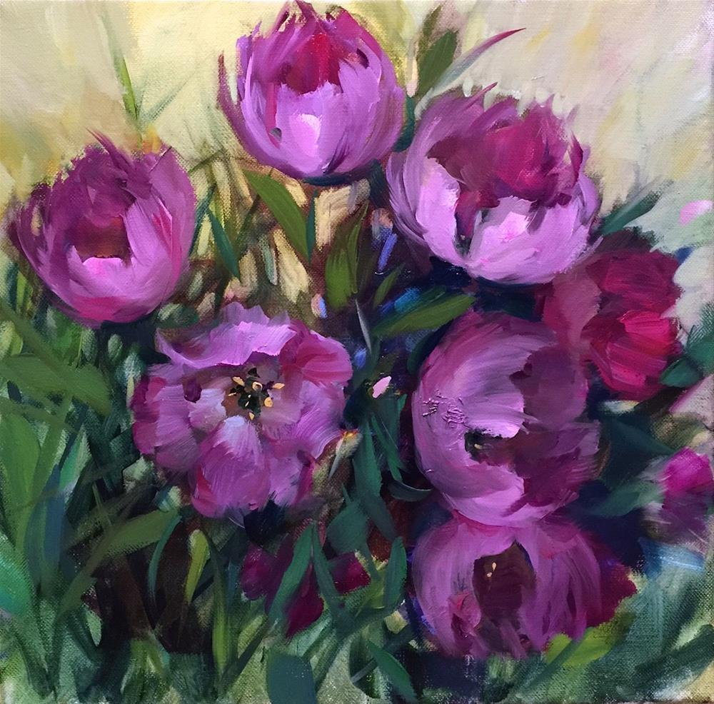 """Pink Fever Spring Tulips - Nancy Medina Art Videos and Classes"" original fine art by Nancy Medina"