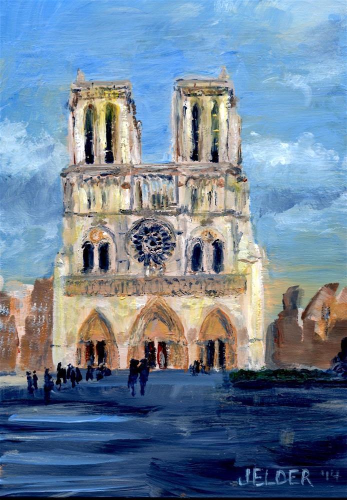 """Paris No. 23, Notre Dame"" original fine art by Judith Elder"