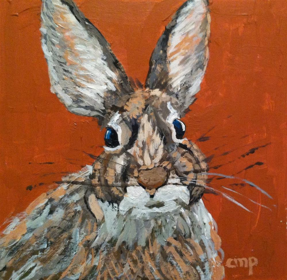 """Bunny"" original fine art by Christine Parker"