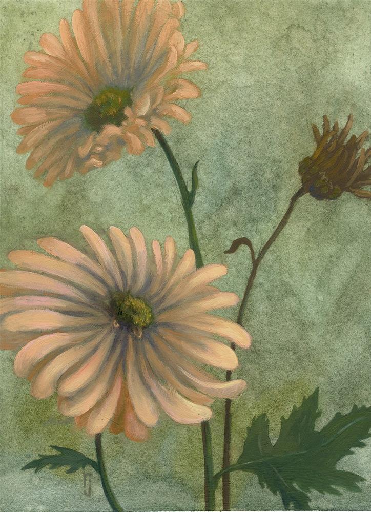 """Gerber Daisy"" original fine art by Robyn Jorde"