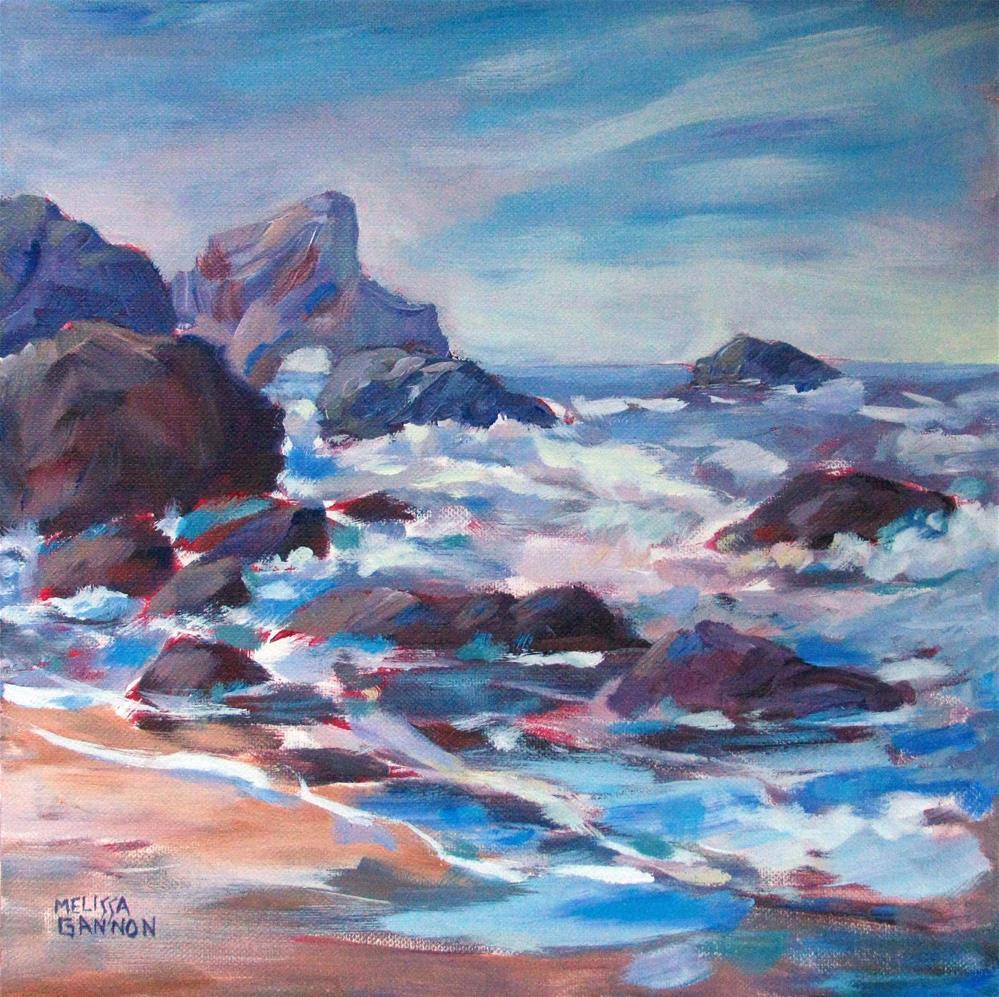 """View at Indian Beach"" original fine art by Melissa Gannon"