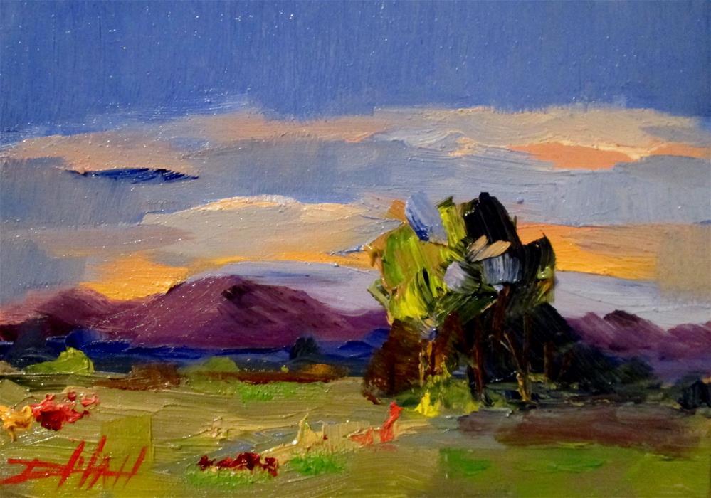 """Purple Mountains"" original fine art by Delilah Smith"