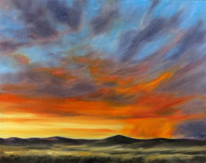 """Flaming Squall"" original fine art by Carol Zirkle"