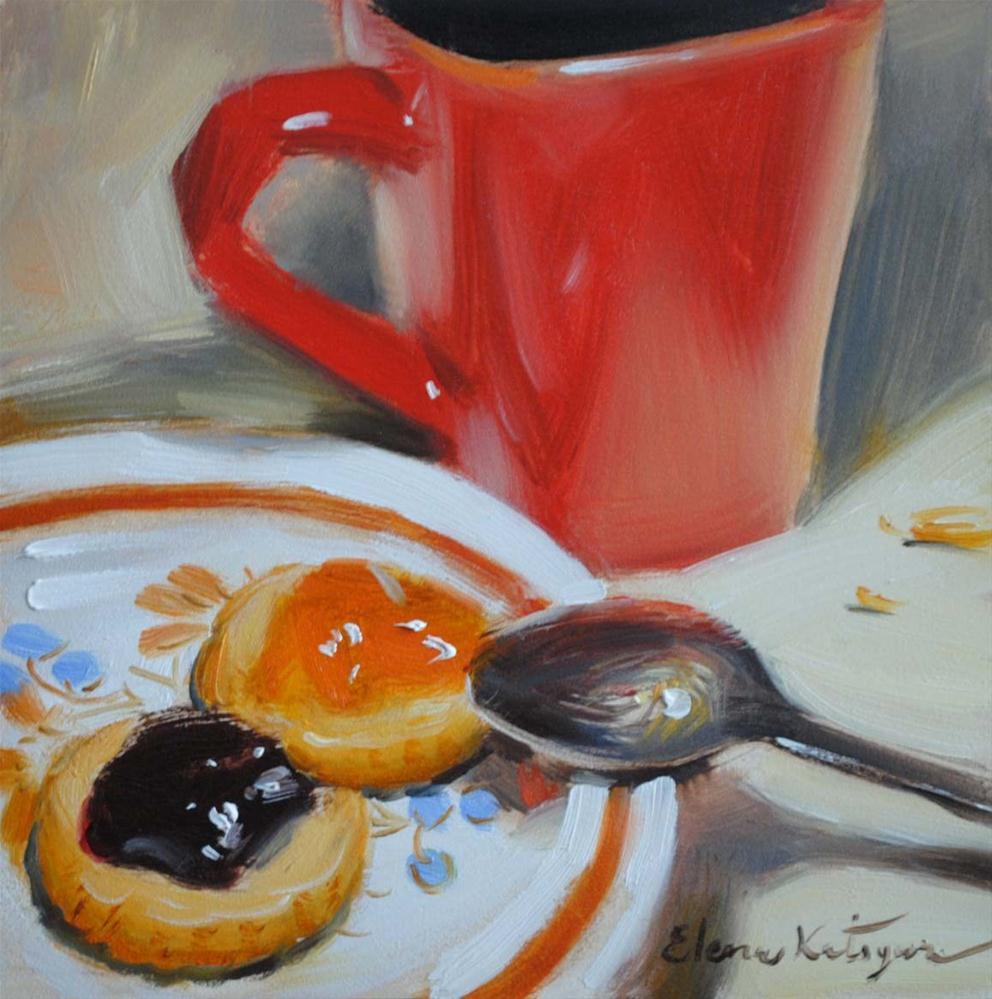 """Cup and Jam"" original fine art by Elena Katsyura"