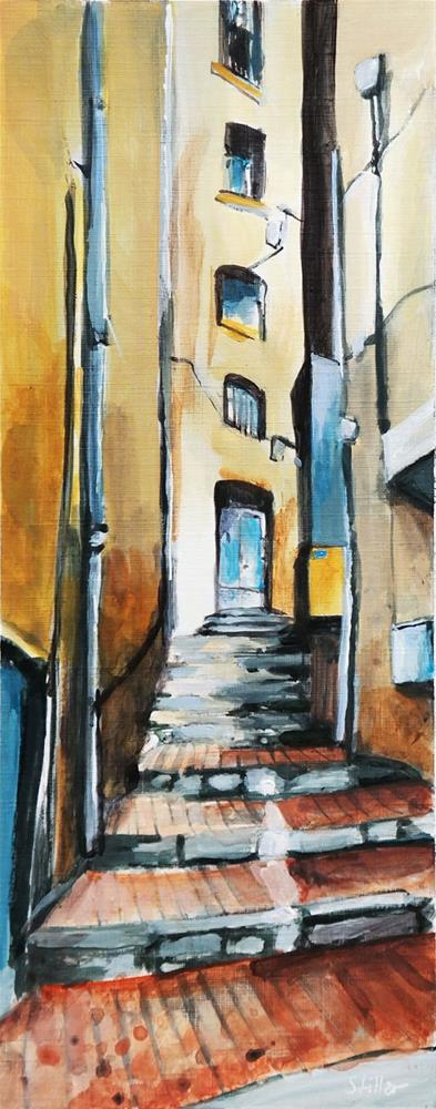"""2604 Alley View 3"" original fine art by Dietmar Stiller"