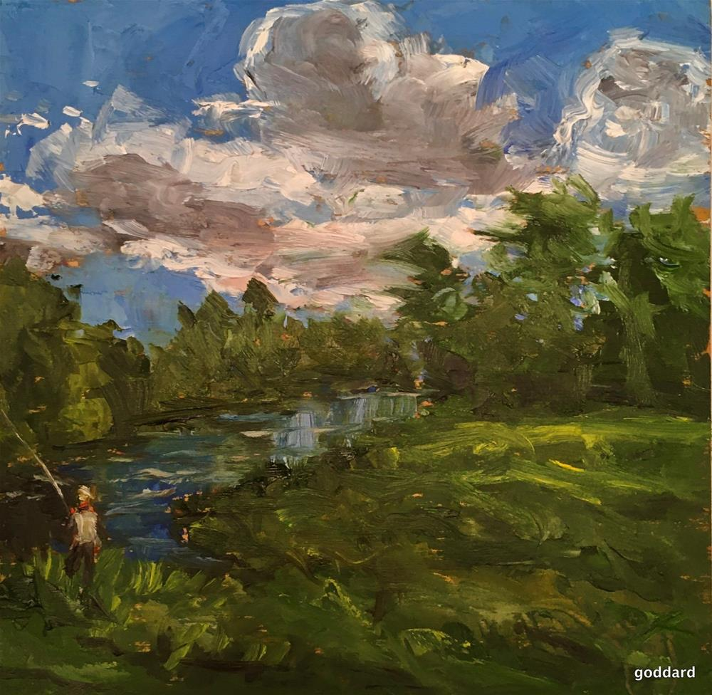 """It's Catching"" original fine art by Shari Goddard Shambaugh"