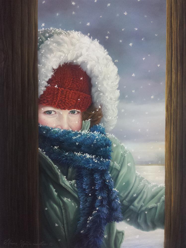 """""""Chloe"""" original fine art by Elaine Guitar van Loo"""