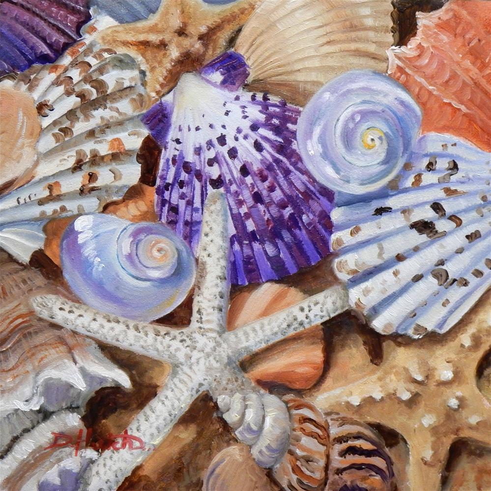 """Stars and Shells"" original fine art by Diane Hutchinson"