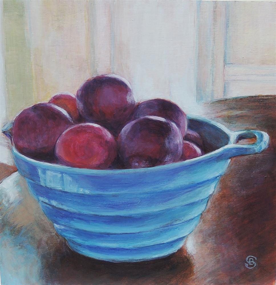 """Plumful"" original fine art by Belinda Scheber"