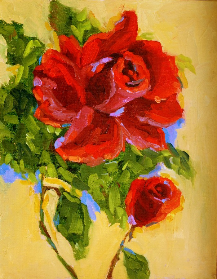 """Sunday Rose 12117"" original fine art by Nancy Standlee"