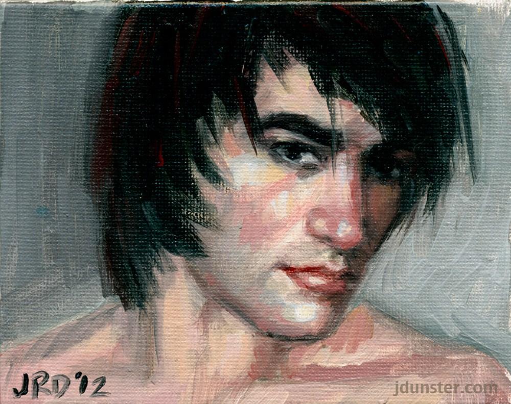 """""""Emo Boy"""" original fine art by J. Dunster"""