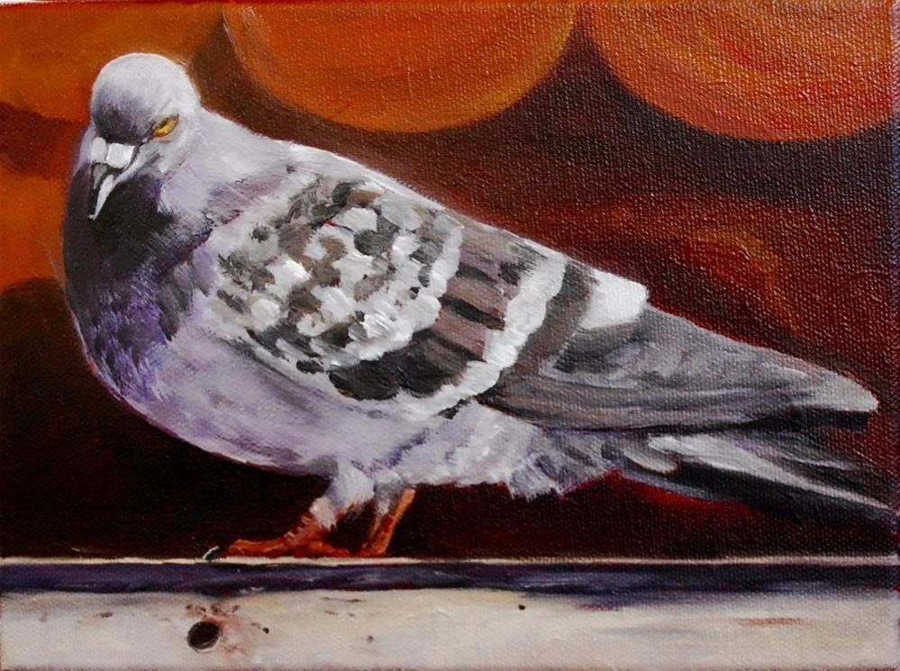 """City bird"" original fine art by Beverley Phillips"