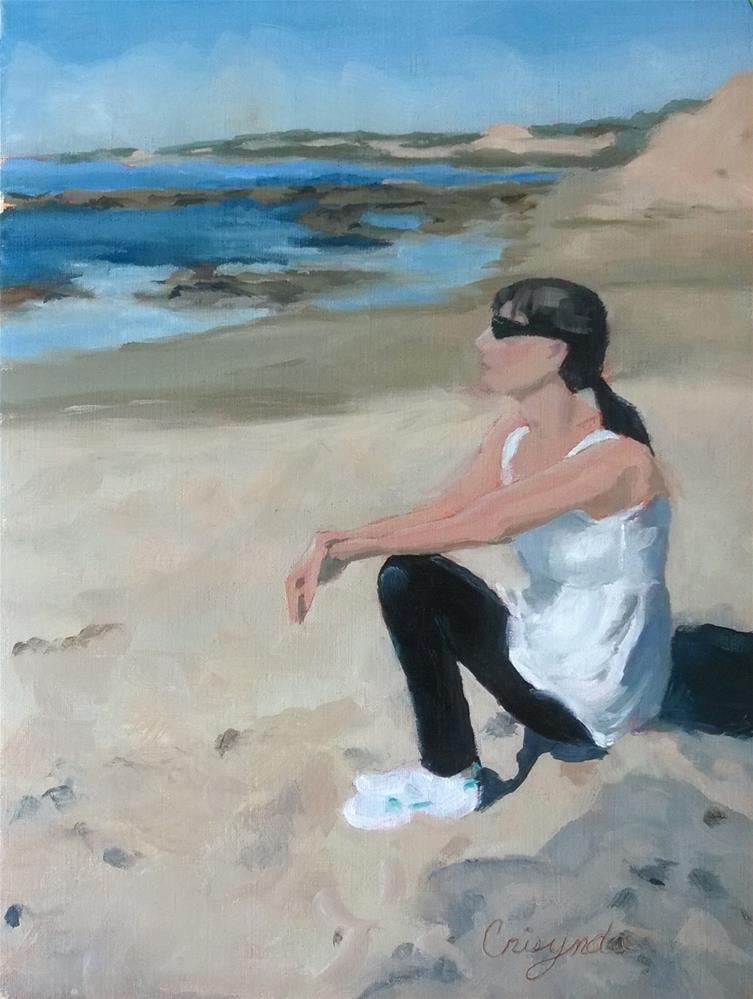 """""""Enjoying Crystal Cove"""" original fine art by Crisynda Buss"""