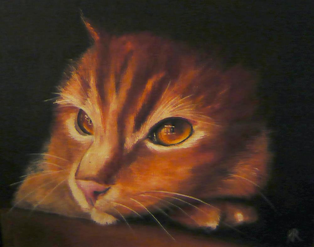 """""""Up close - Pumpkin"""" original fine art by Karen Robinson"""