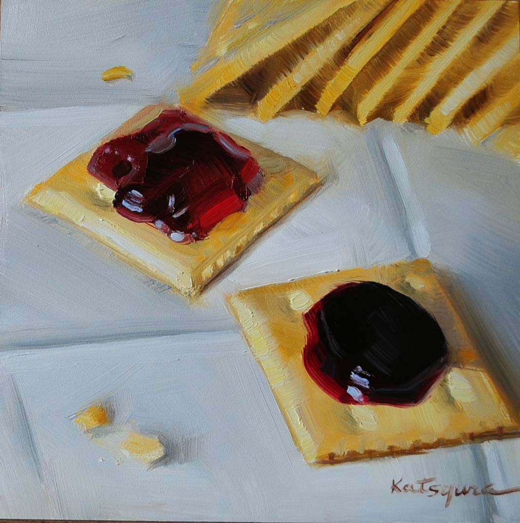 """""""Cherry & Blackberry Jam"""" original fine art by Elena Katsyura"""