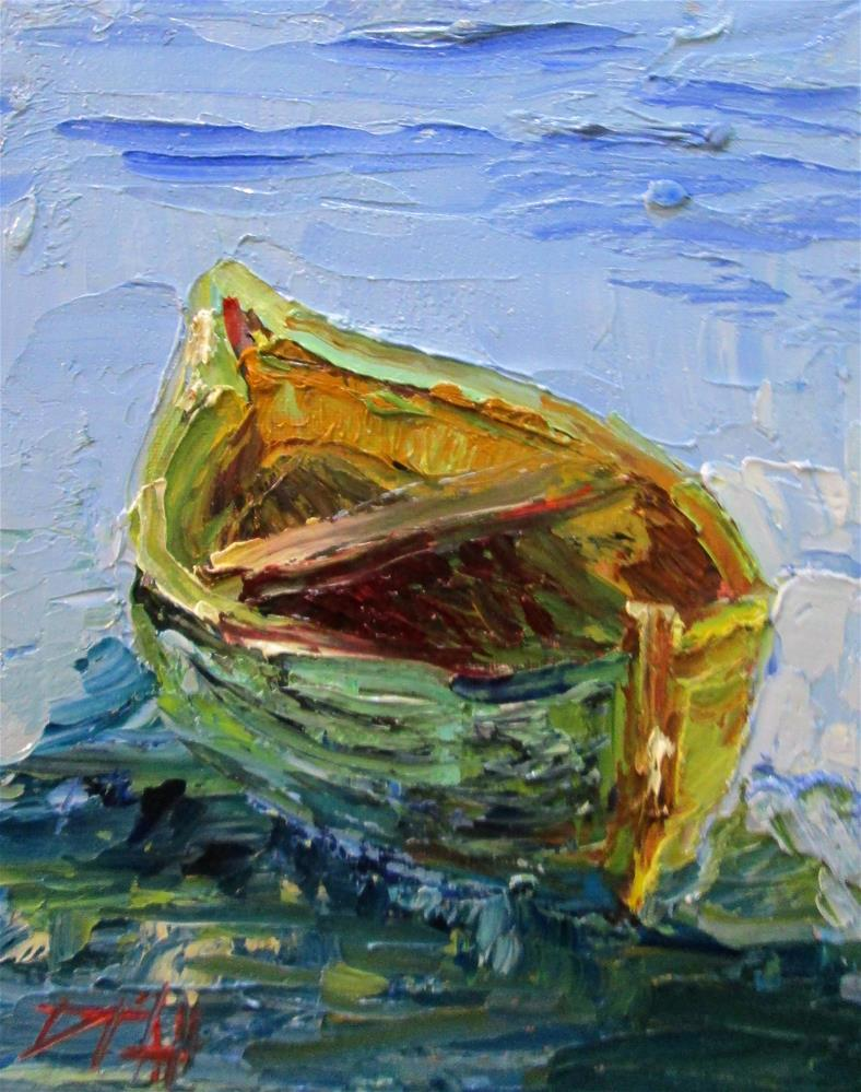 """Row Boat"" original fine art by Delilah Smith"