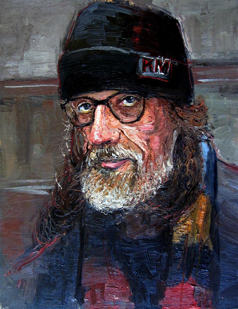 """The Face of Homelessness Sloane Square II"" original fine art by Adebanji Alade"