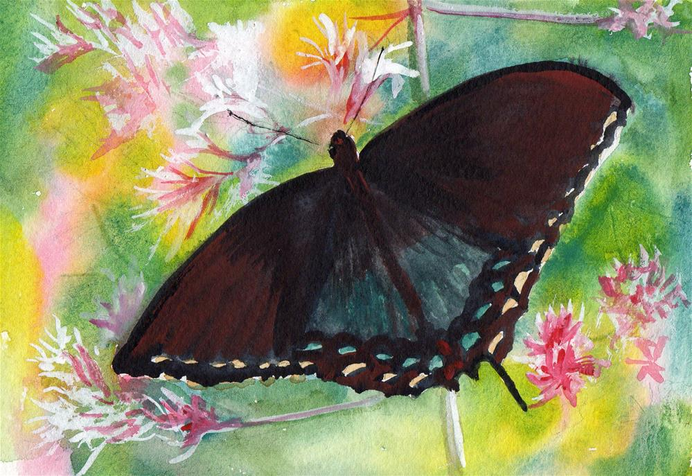 """""""Butterfly"""" original fine art by Bunny Griffeth"""