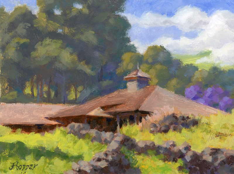 """Thompson Road Barn"" original fine art by Joanne Hopper"