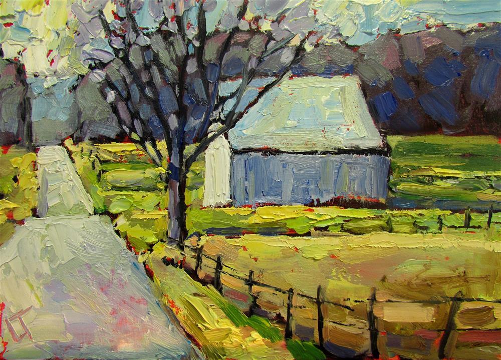 """Indiana Barn Spring Time"" original fine art by Lindsey Elizabeth Tull"