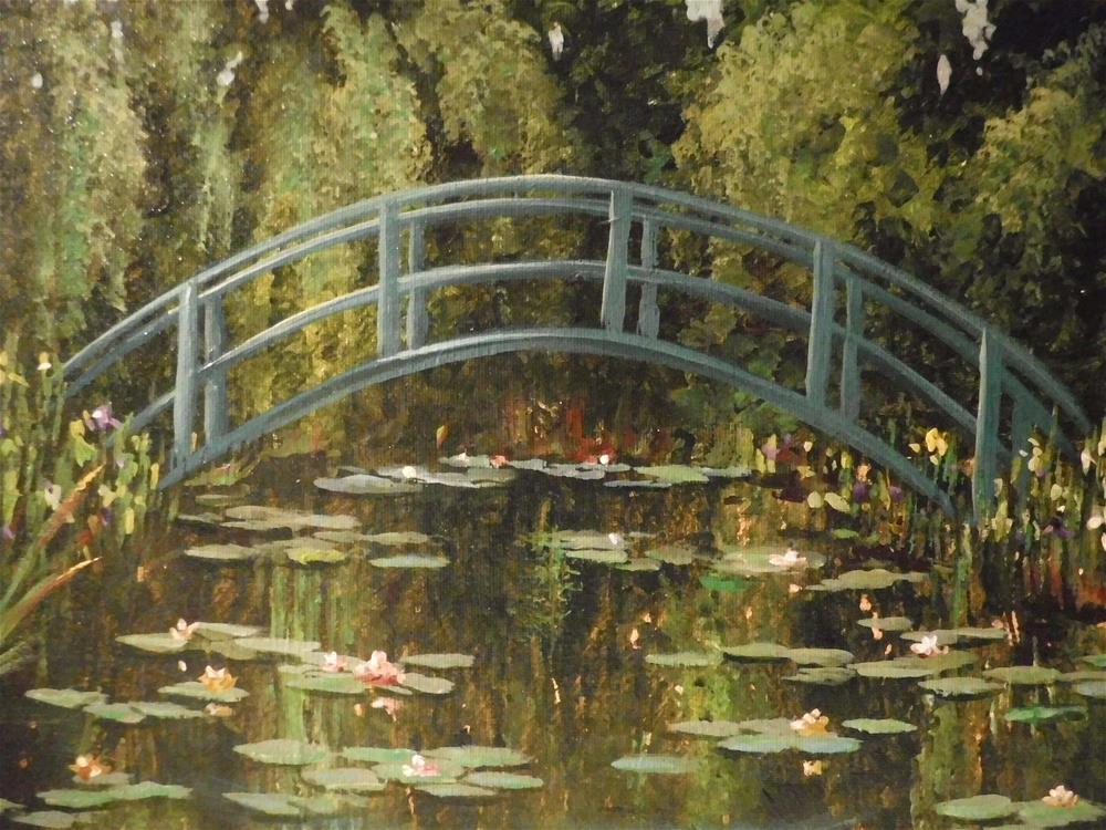 """Monets Japanese Footbridge"" original fine art by Terri Nicholson"