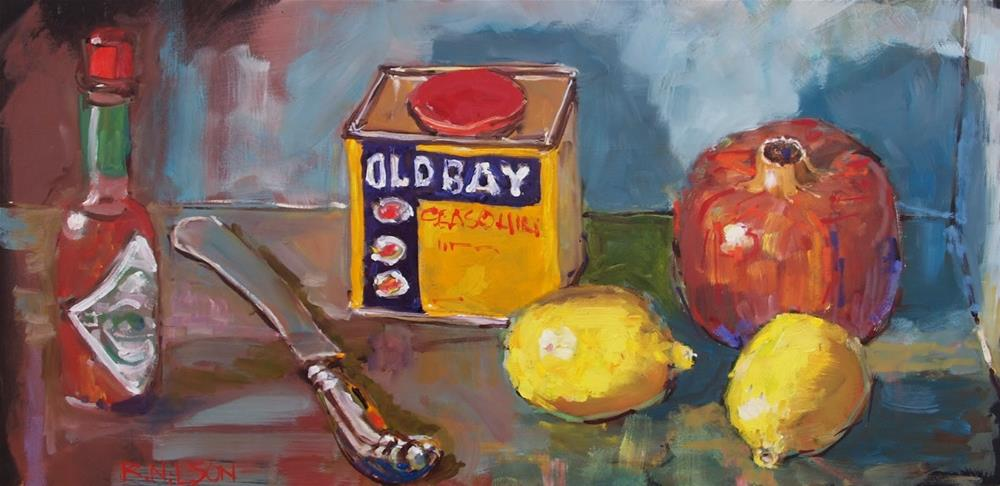 """Featuring Pomegranate and Old Bay"" original fine art by Rick Nilson"