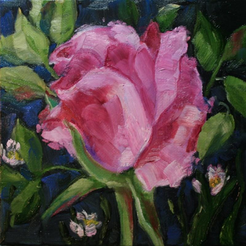 """""""Rosebud"""" original fine art by Jean Nelson"""