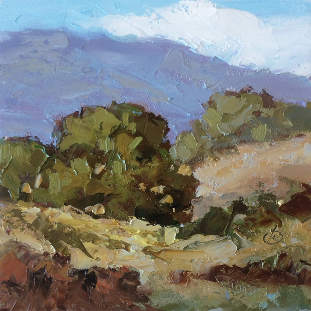 """BIG BEND, LAGUNA CANYON"" original fine art by Tom Brown"