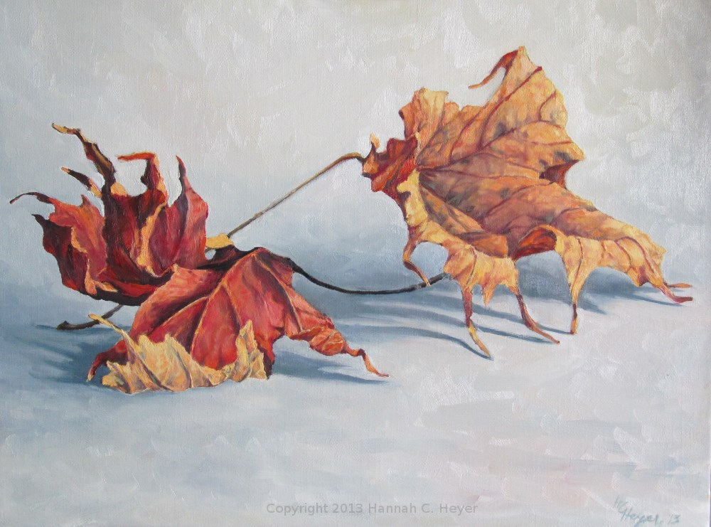 """Maple Leaves"" original fine art by Hannah C. Heyer"