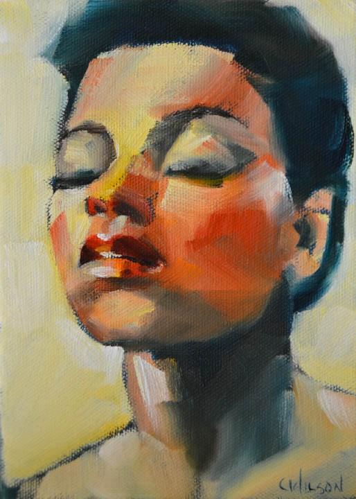 """Dee"" original fine art by Cheryl Wilson"