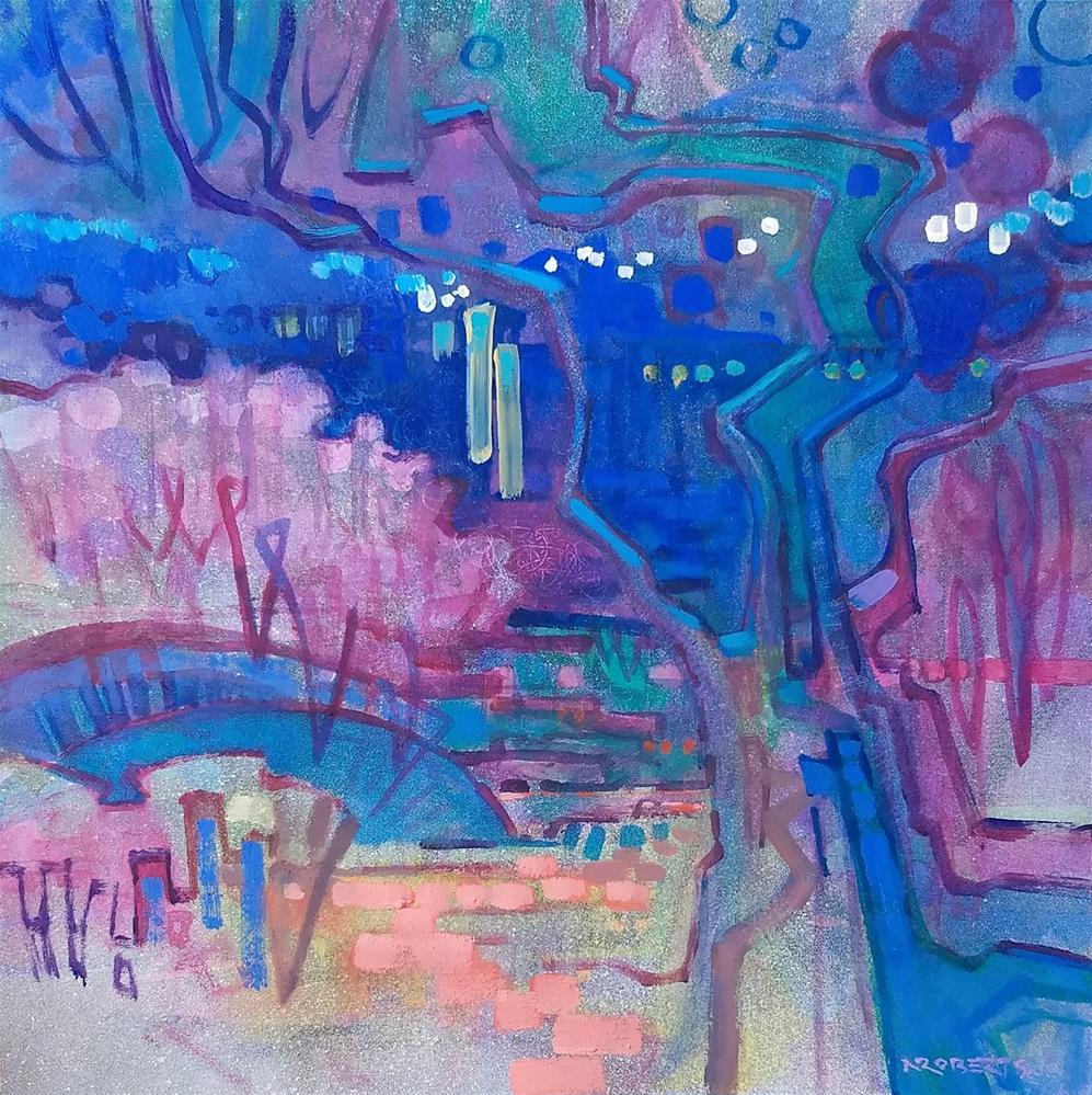 """Garden Harmony"" original fine art by Nancy Roberts"