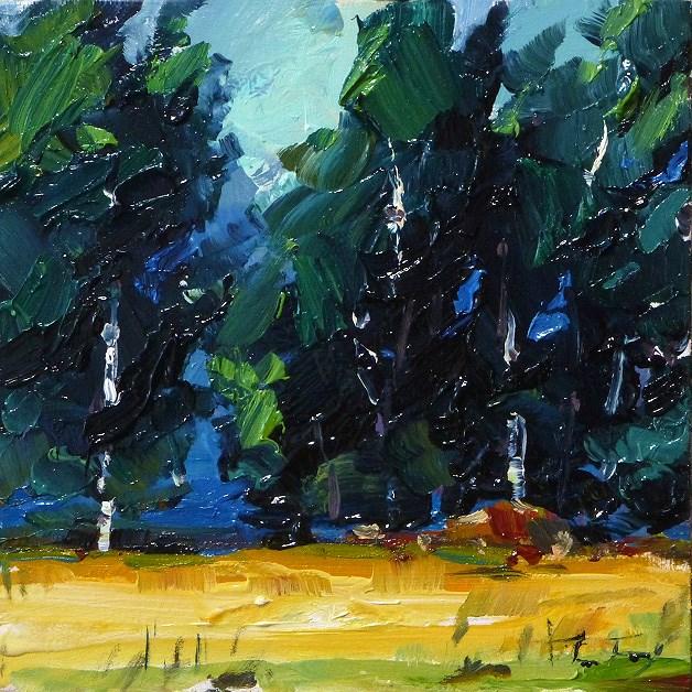 """""""birch forest"""" original fine art by Jurij Frey"""