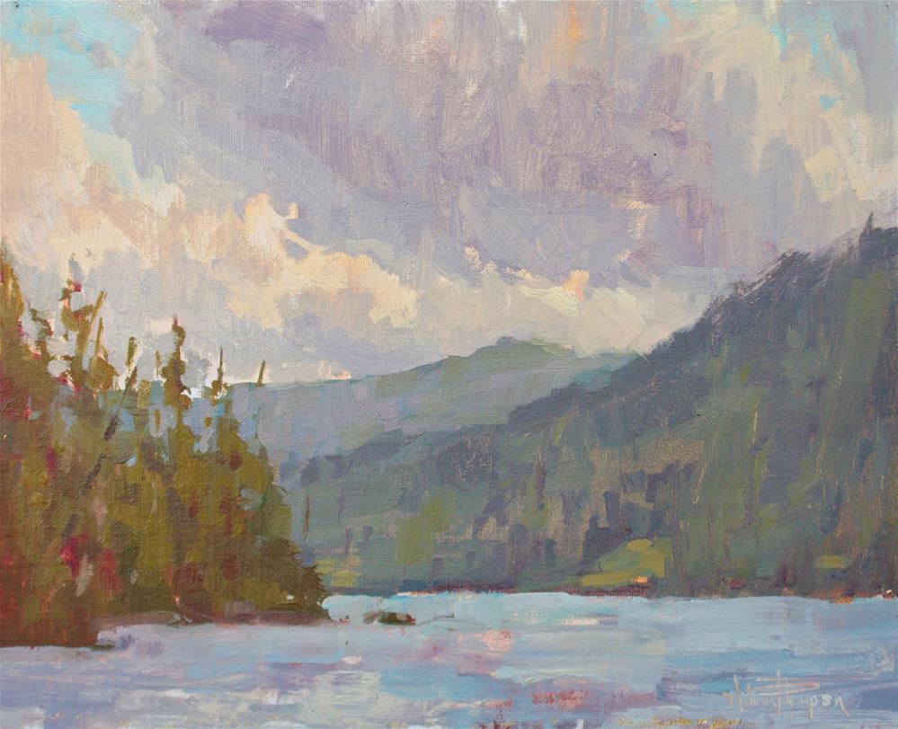 """Lost Lake Morning"" original fine art by Melanie Thompson"
