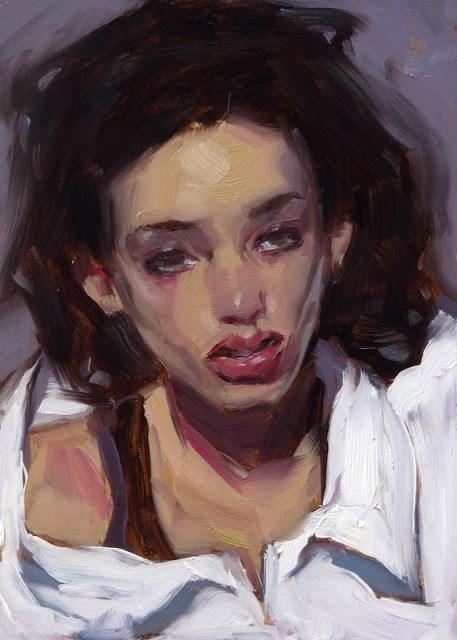 """Big White Shirt"" original fine art by John Larriva"