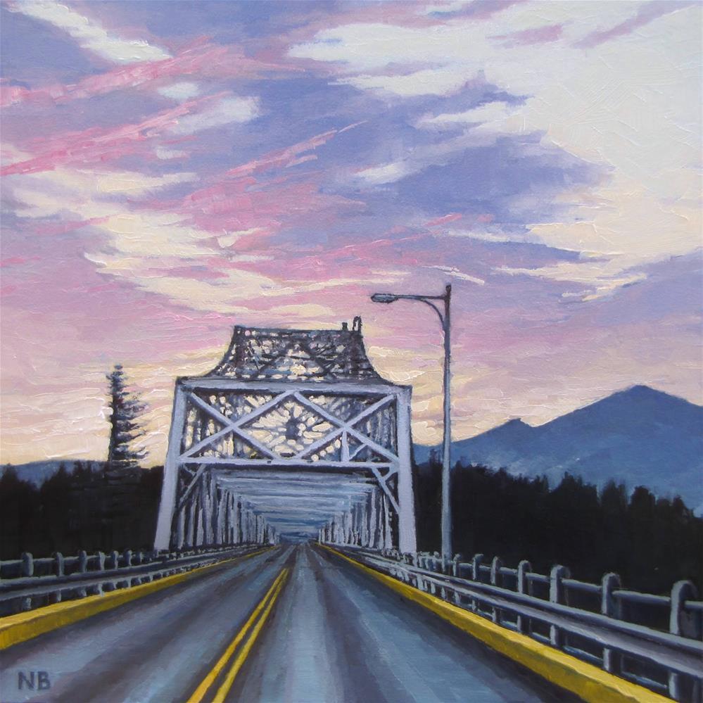 """Bridge of the Gods"" original fine art by Nora Bergman"