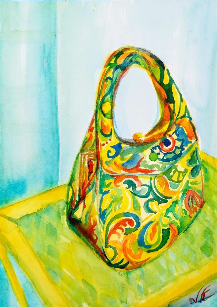"""MAMA GOTTA BRAND NEW BAG"" original fine art by Jean Krueger"