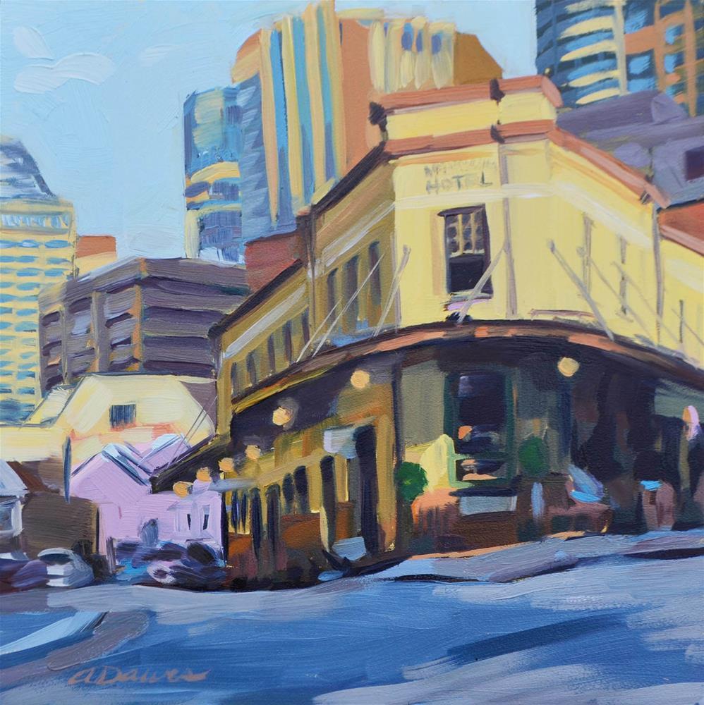 """The Australian Hotel"" original fine art by April Dawes"