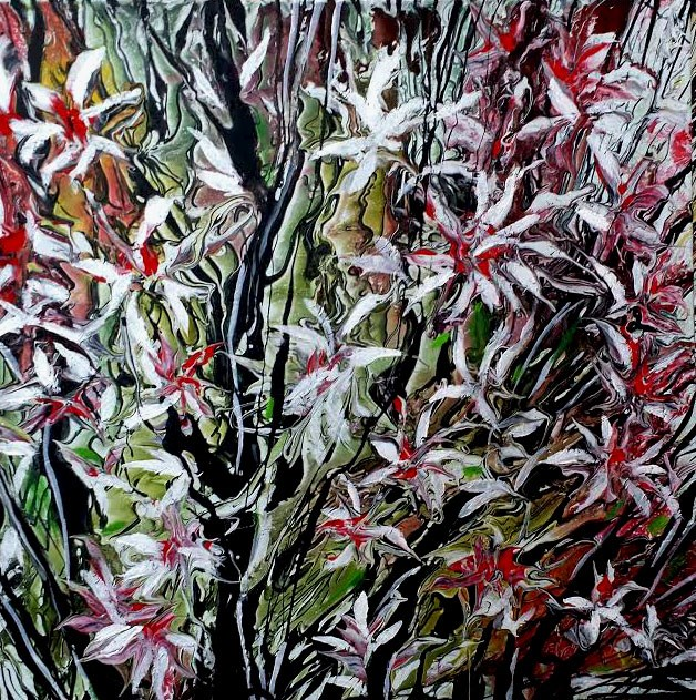 """Flowers Creations"" original fine art by Khrystyna Kozyuk"