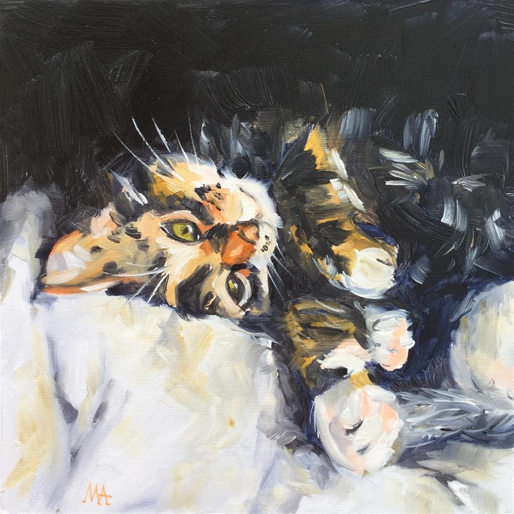 """Comfy"" original fine art by Aniko Makay"