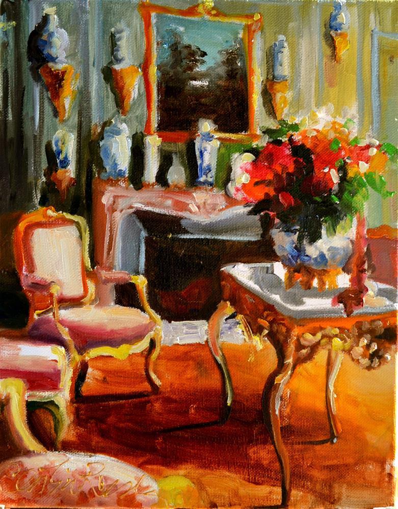 """CHATEAU INTERIOR"" original fine art by Cecilia Rosslee"