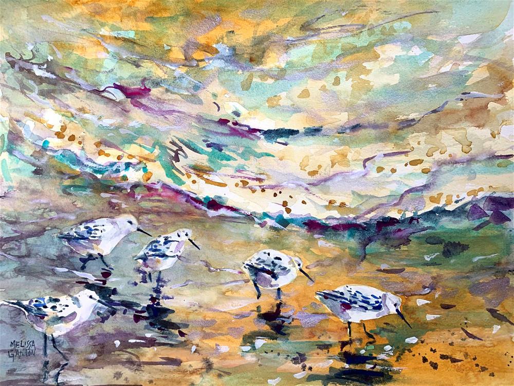 """Beach Walk"" original fine art by Melissa Gannon"