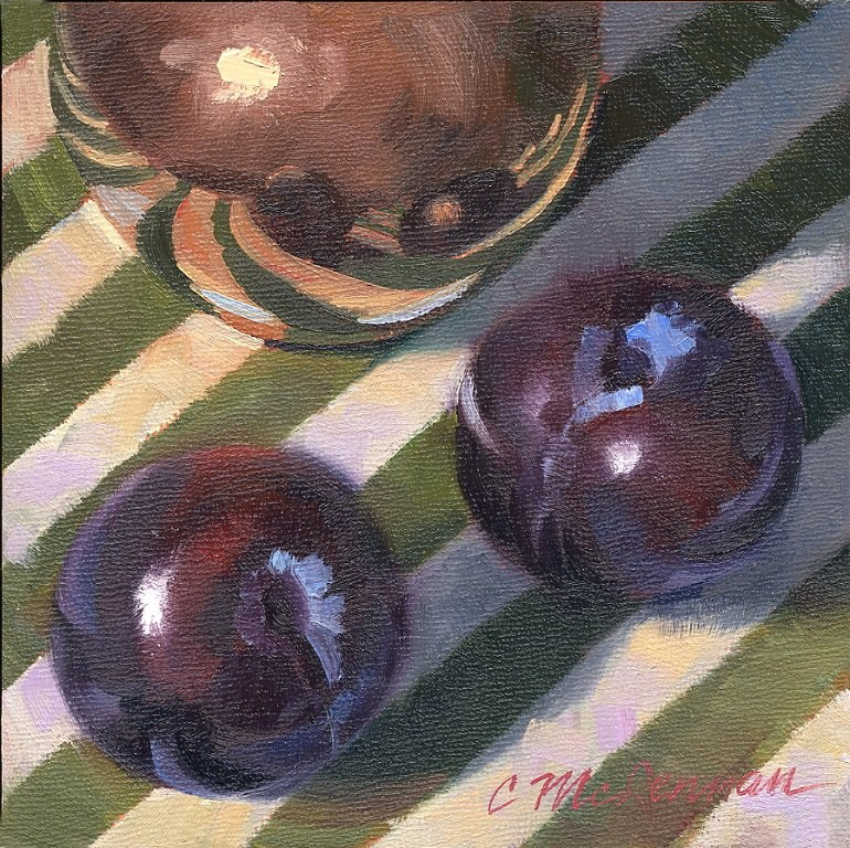 """Plums and Copper"" original fine art by Connie McLennan"
